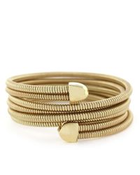 BCBGeneration | Metallic Goldtone Coil Wrap Bracelet | Lyst