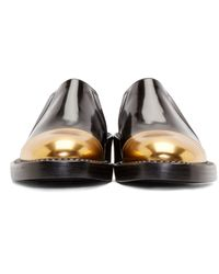 Marni | Black And Gold Slip-on Mocasins | Lyst