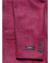 Paul Smith - Purple Herringbone Weave Blazer for Men - Lyst
