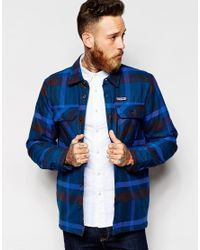 Patagonia | Blue Insulated Shirt With Check for Men | Lyst