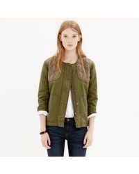 Madewell - Green Quilted Bomber Jacket - Lyst
