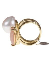 Wouters & Hendrix - Multicolor Sunstone and Pearl Ring - Lyst