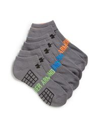 Under Armour | Gray 'beyond V' No-show Socks for Men | Lyst