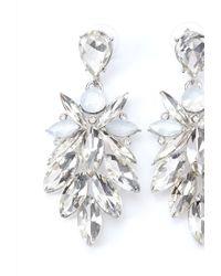 Forever 21 - Metallic Rhinestone Petal Drop Earrings - Lyst