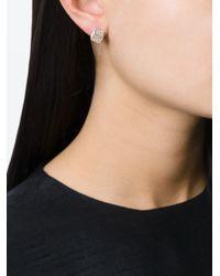 Vita Fede - White Pavé Set Cube Earrings - Lyst