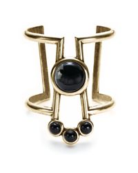 Pamela Love | Metallic Comet Cuff With Black Agate | Lyst