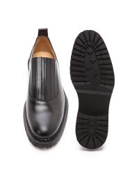 Carven - Black Pull Leather Elastic Shoes for Men - Lyst