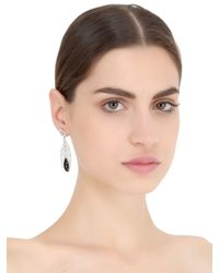 Elise Dray - Metallic Feather Of Peacock Earrings - Lyst
