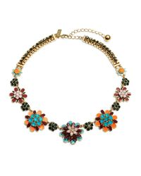 kate spade new york | Multicolor Bold Blooms Collar Necklace | Lyst