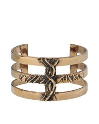 Pamela Love | Metallic Vine Cross Cuff | Lyst