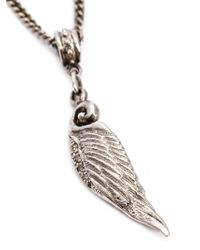 Roman Paul - Metallic Wing Pendant Necklace for Men - Lyst