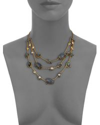 Alexis Bittar | Metallic Elements Punk Labradorite & Crystal Draped Three-strand Station Necklace | Lyst