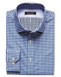 Banana Republic - Camden-fit Blue Gingham 120s Supima Cotton Shirt for Men - Lyst
