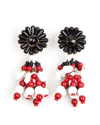 Marni | White Flower Drop Bead Earrings | Lyst