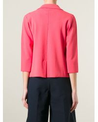 P.A.R.O.S.H. - Red Ritz Crepe Jacket - Lyst