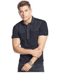 DKNY | Blue Slub Jersey Shirt for Men | Lyst