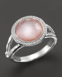 Ippolita | Sterling Silver Stella Mini Lollipop Ring In Pink Mother-Of-Pearl Doublet With Diamonds | Lyst