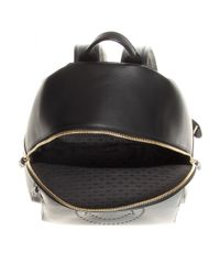 Anya Hindmarch Black Smiley Leather Backpack