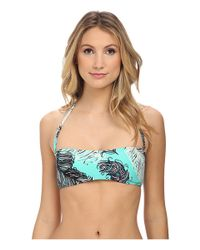 kate spade new york - Blue Bandeau Top W/ Removable Soft Cups & Strap - Lyst
