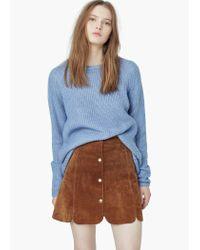 Mango | Blue Mixed Knit Sweater | Lyst