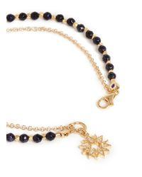 Astley Clarke | Metallic 'Sun' 18K Gold Blue Goldstone Friendship Bracelet - Revival & Light | Lyst