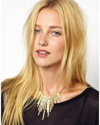 SELECTED - Metallic Cold Spikes Necklace - Lyst