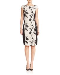Weekend by Maxmara | Natural Fionda Ponte Floral Dress | Lyst