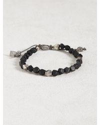 John Varvatos - Black Pyrite Special Cut Bracelet for Men - Lyst