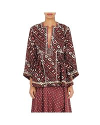 Isabel Marant - Red Women's Georgette Topaz Tunic - Lyst
