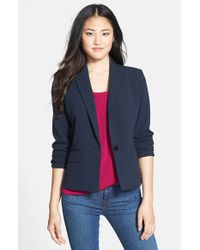 Anne Klein - Blue One-button Blazer - Lyst