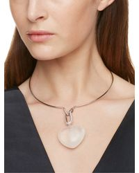kate spade new york - Metallic Super Stone Heart Collar - Lyst