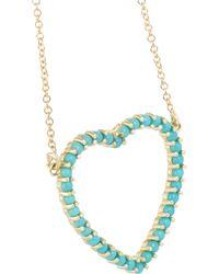 Jennifer Meyer - Blue Open Heart 18-karat Gold Turquoise Necklace - Lyst