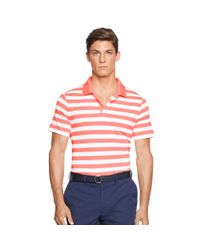 Ralph Lauren - Pink Classic-fit Striped Polo Shirt for Men - Lyst
