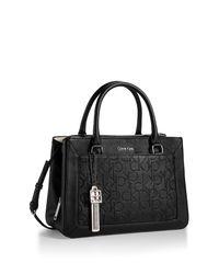 Calvin Klein | Black White Label Sadie City Center Zip Carry All | Lyst