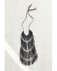 Urban Renewal - Black Cathy Callahan Chevron Stripe Fringe Necklace - Lyst