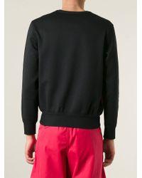 Alexander McQueen - Black Abstract Print Sweatshirt for Men - Lyst