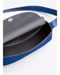 Vince - Blue Modern V Small Shoulder Bag - Lyst