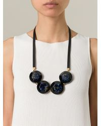 Marni | Brown Faceted Stone Necklace | Lyst