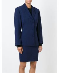 Jean Paul Gaultier - Blue Two Piece Skirt Suit - Lyst