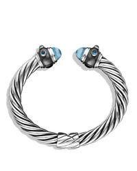 David Yurman | Metallic Renaissance Bracelet With Blue Topaz And Hampton Blue Topaz | Lyst