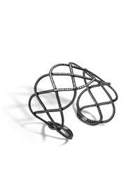 John Hardy | Metallic Classic Chain Wide Woven Braided Cuff | Lyst