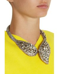 Erickson Beamon - Metallic Hello Sweetie Gold-Plated Swarovski Crystal Necklace - Lyst