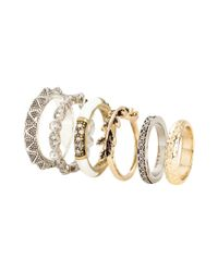 H&M | Metallic 6-pack Rings | Lyst