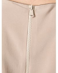 Brunello Cucinelli | Natural Sleeveless Top | Lyst