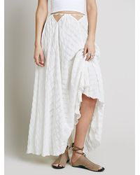 9e40bd81ae89 Free People Endless Summer Womens Possi Vibes Skirt in White - Lyst