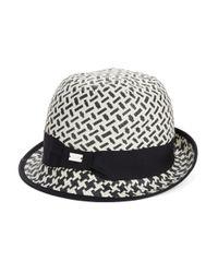 Calvin Klein | Black Woven Cloche Hat | Lyst