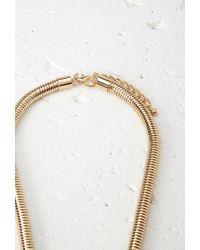 Forever 21 - Metallic Faux Marble Statement Necklace - Lyst