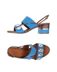 Roberto Cavalli - Blue Sandals - Lyst