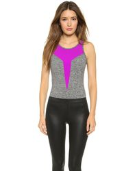 Koral Activewear - Gray Propel Bodysuit - Heather Grey/orchid - Lyst
