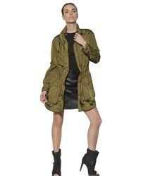 Belstaff - Green Nylon Parka Long Jacket - Lyst